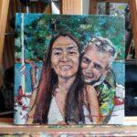 Portrét, Akryl, plátno