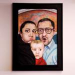 Rodinný portrét v ráme