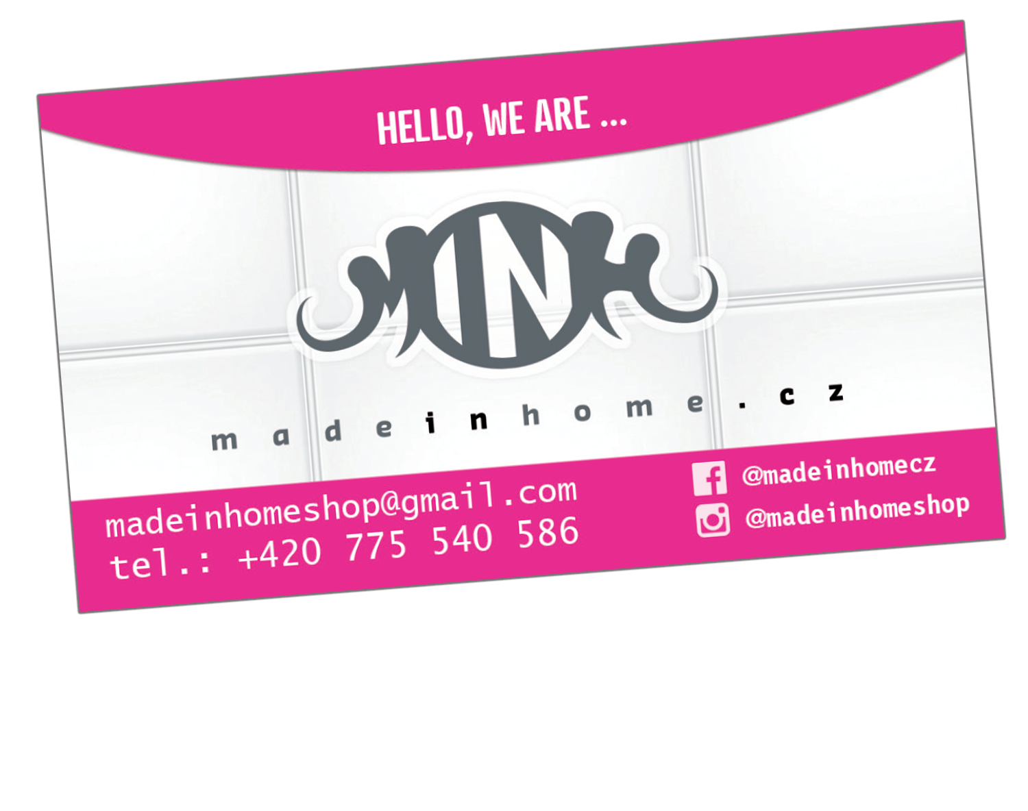 business card made in home